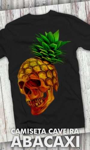 Camiseta Caveira Abacaxi