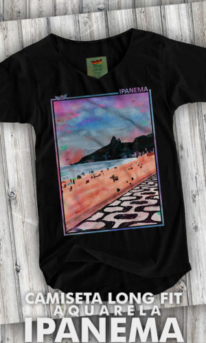 Camiseta – Long Aquarela de Ipanema