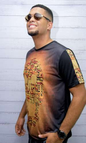 Camiseta Caveira Favela