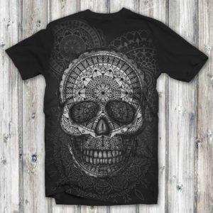 Camiseta Caveira Mandala