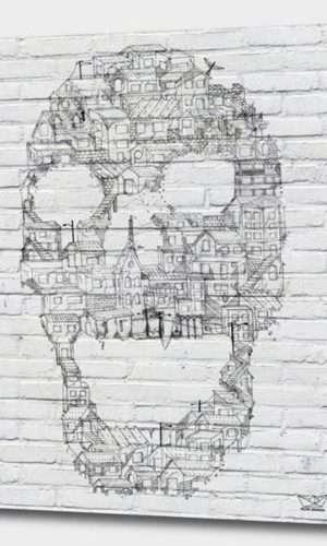 Desconstrução – Caveira – Muros da Favela